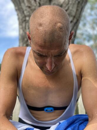 Maarten training thuistriathlon 1